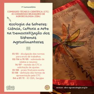 1ª Convocatória – Ecologia de Saberes: Ciência, Cultura e Arte na Democratização dos Sistemas Agroalimentares