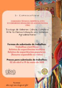 2ª Convocatória – Ecologia de Saberes: Ciência, Cultura e Arte na Democratização dos Sistemas Agroalimentares