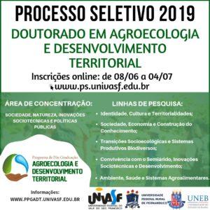 Doutorado Profissional em Agroecologia abre processo seletivo