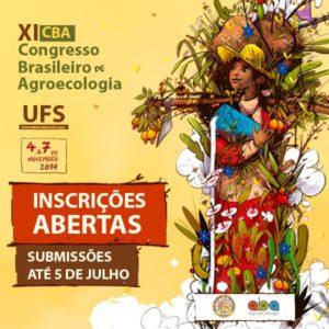Inscrições abertas para o XI Congresso Brasileiro de Agroecologia (CBA)