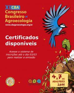 Já estão disponíveis os certificados de participação no XI CBA